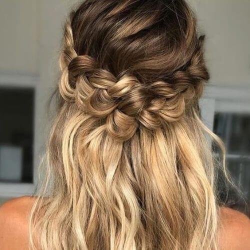 brown hair with blonde highlights briad