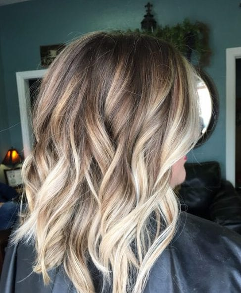 brown melt blonde balayage