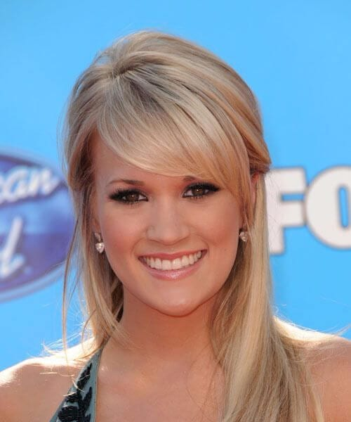 carrie underwood hairstyles with bangs