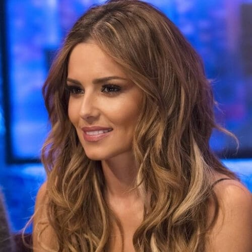 cheryl cole brown hair with blonde highlights