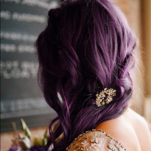deep purple princess hair plum hair color