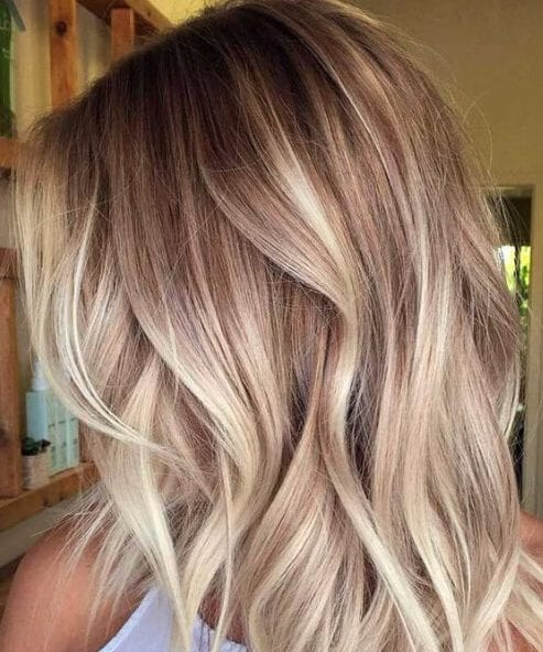 diamond blonde balayage
