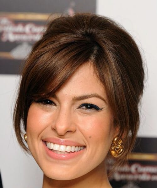eva mendez hairstyles with bangs