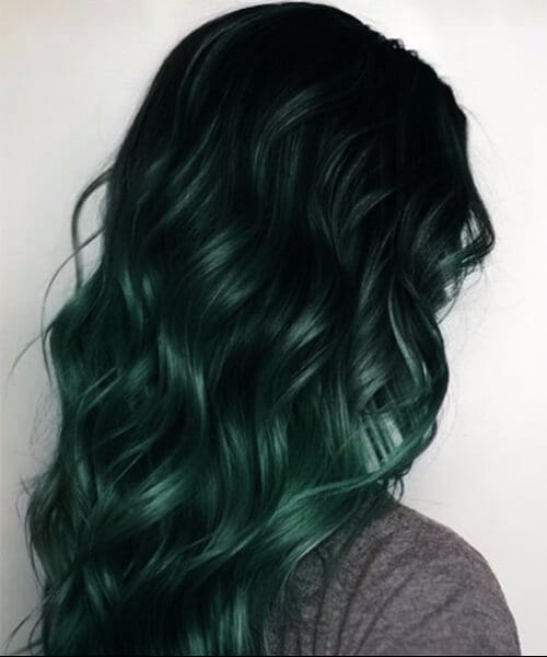 forest green hair fall hair colors