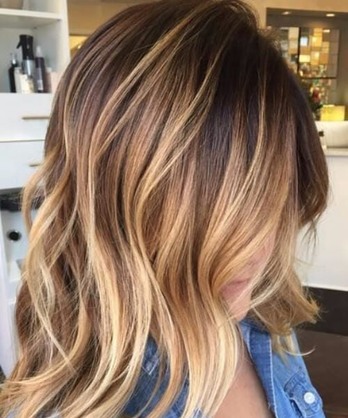 heavy golden blonde balayage