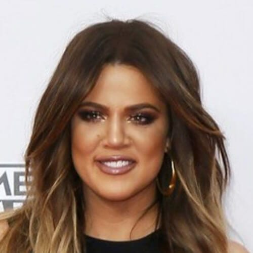 khloe kardashian brown hair with blonde highlights