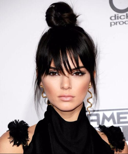 kylie jenner hairstyles with bangs