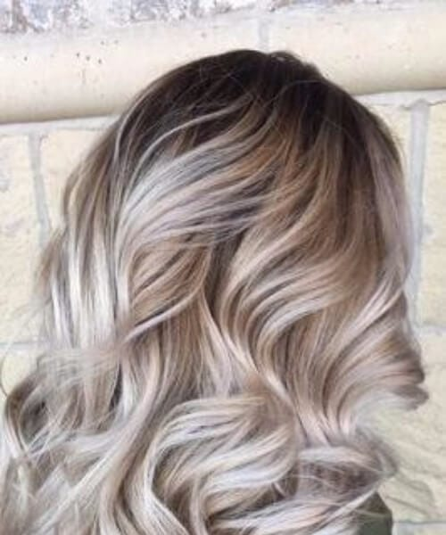 light gray blonde balayage