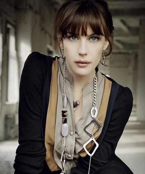 liv tyler hairstyles with bangs