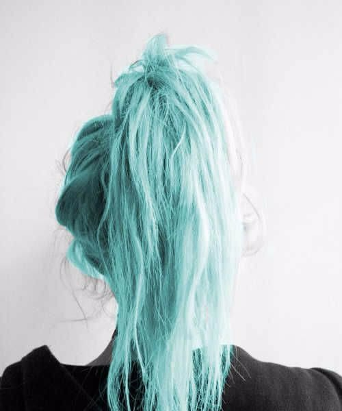 lunar teal hair color
