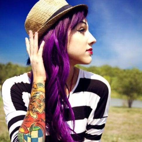 mardi gras plum hair color