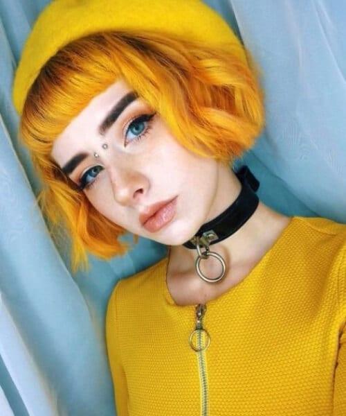 mustard fall hair colors