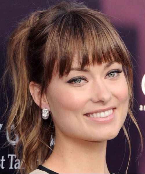 olivia wilde hairstyles with bangs