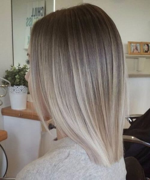 pale blonde balayage