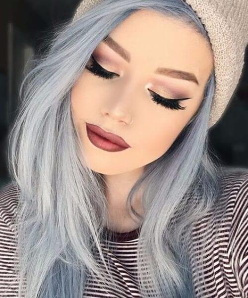 pale blue skies fall hair colors
