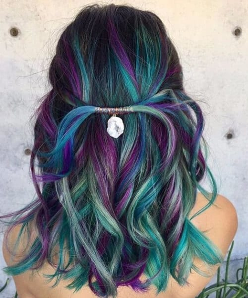 peacock teal hair color