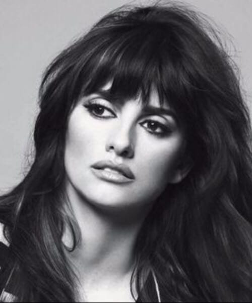 penelope cruz hairstyles with bangs