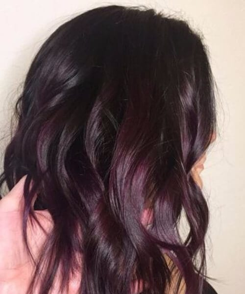plum shaded brunette fall hair colors
