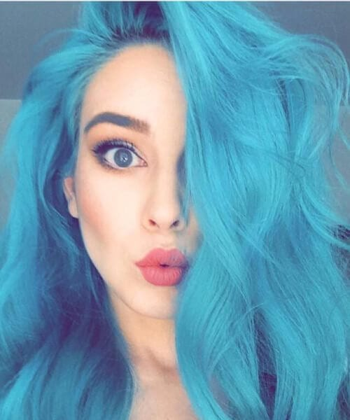 pretty doll teal hair color