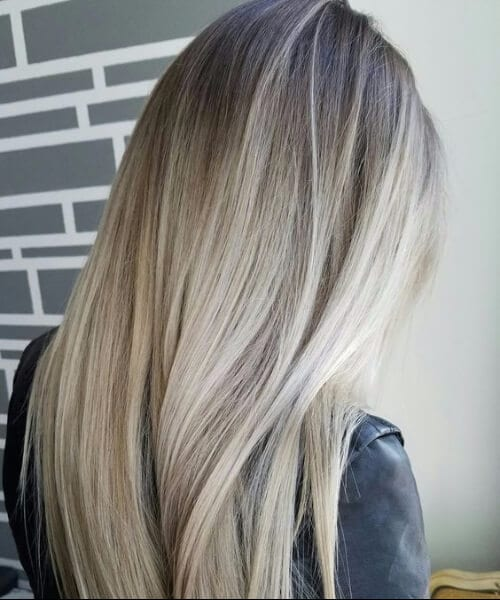 pure blonde balayage