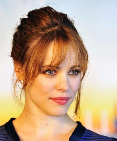 rachel macadams hairstyles with bangs