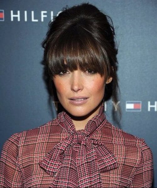 rose byrne hairstyles with bangs