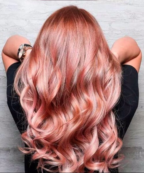rose gold fall hair colors