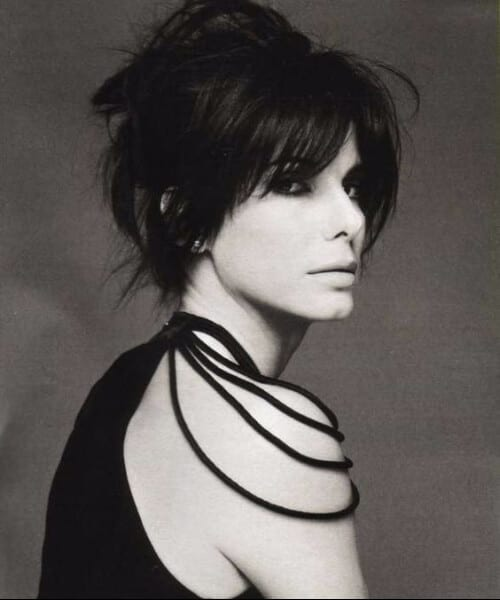 sandra bullock hairstyles with bangs