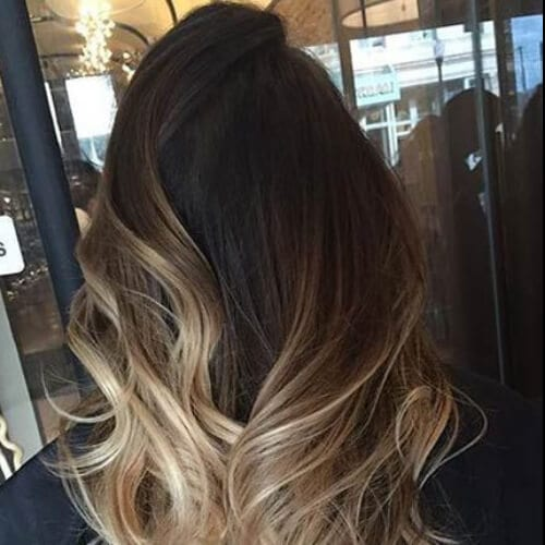 sandy blonde ombre brown hair with blonde highlights