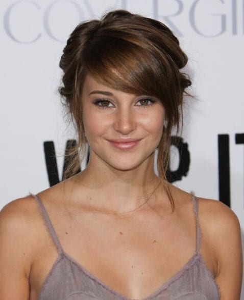 shailene woodley hairstyles with bangs