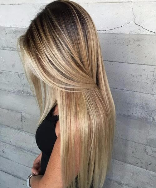sunflower blonde balayage
