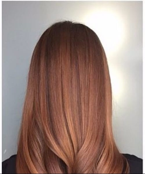 sunkissed auburn fall hair colors