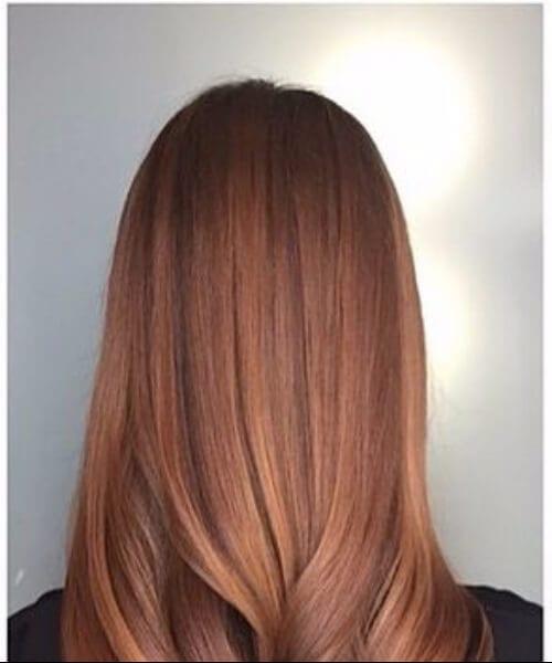 sunkissed auburn fall hair colors