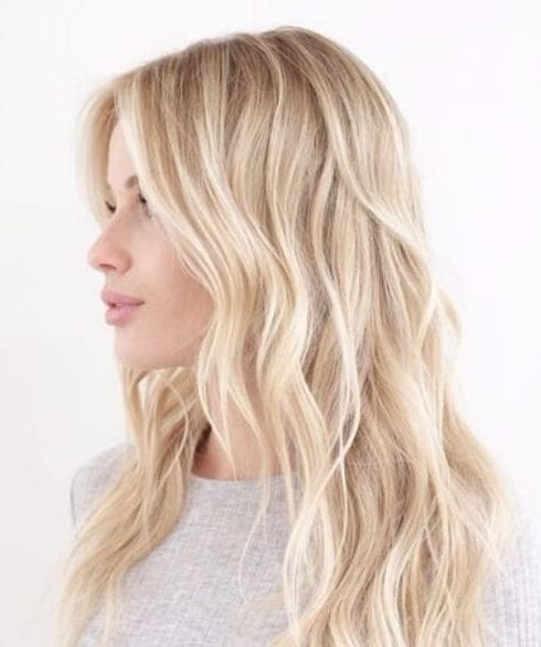 sunlight blonde balayage