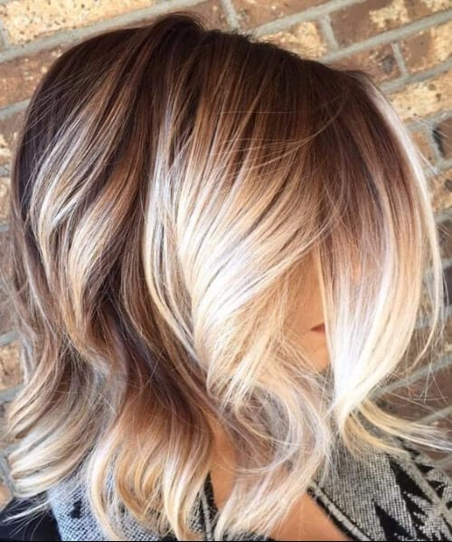 tanned balayage blonde