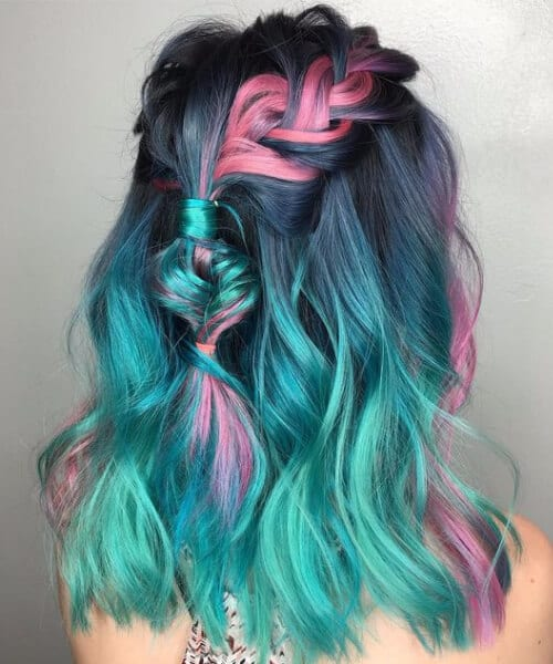 unicorn teal hair color