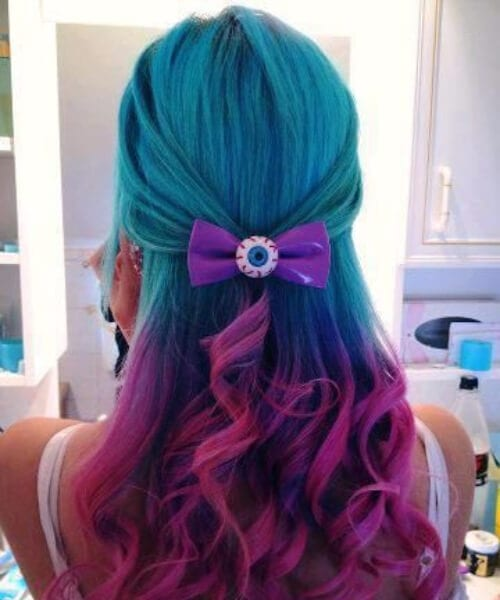 whimsical teal hair color