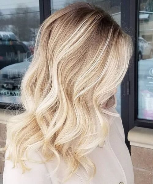 white sands blonde balayage