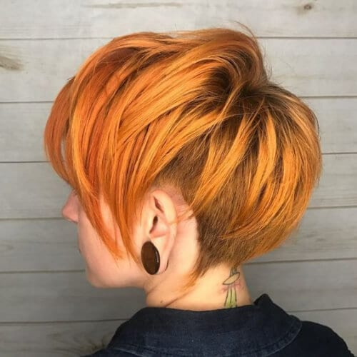 Ginger Pixie With Side And Back Undercut short hairstyles for thick hair