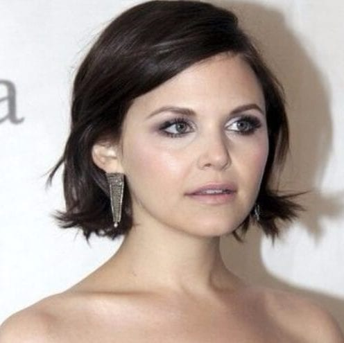 Ginnifer Goodwin short hairstyles for thick hair