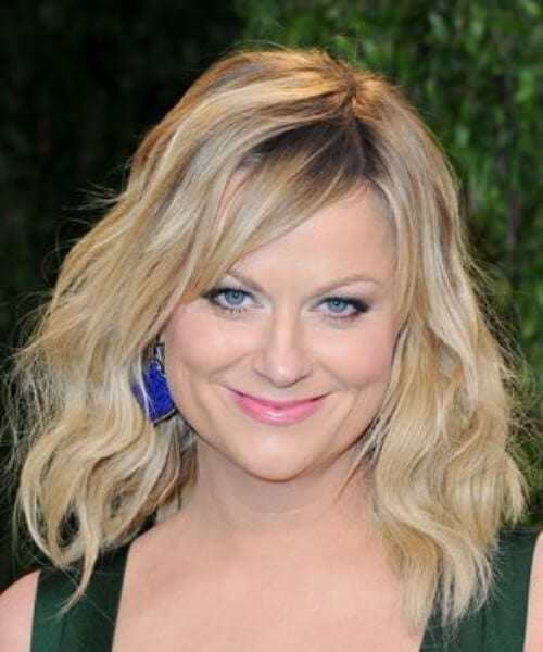 amy poehler side swept bangs