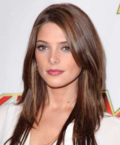 ashley greene side swept bangs