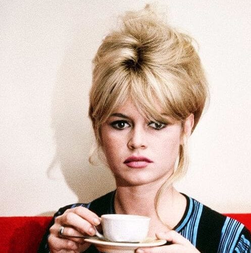 brigitte bardot long hair with bangs