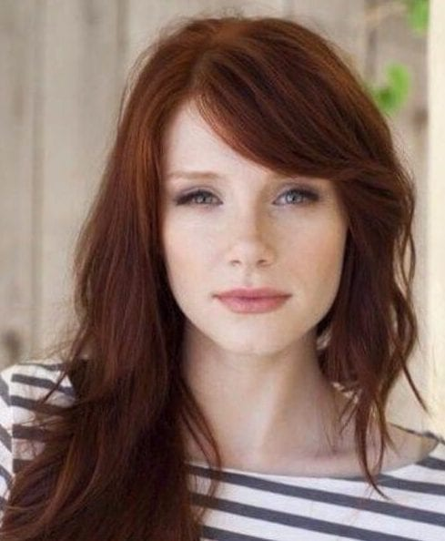 bryce dallas howard side swept bangs