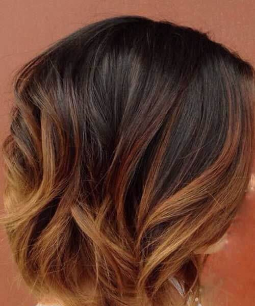 caramel short hair ombre