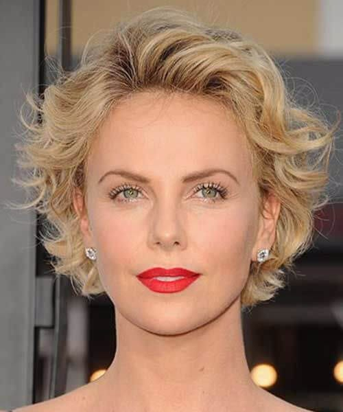 charlize theron short hairstyles for thick hair