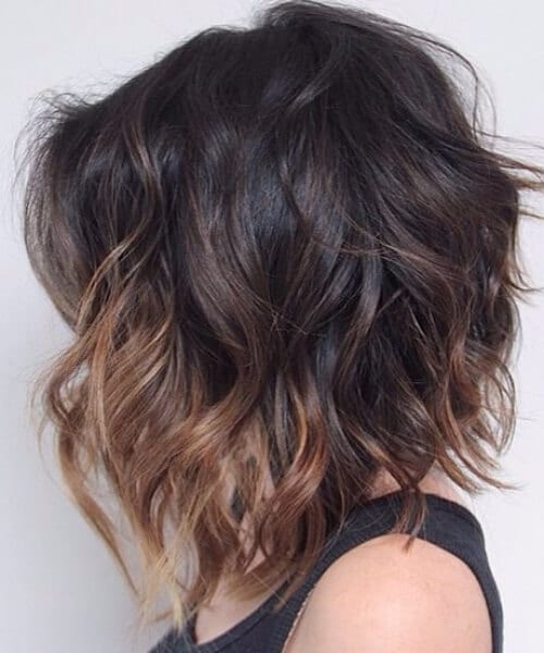 dark and stormy short hair ombre