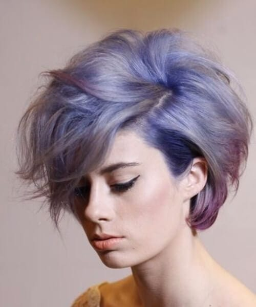 deep sea short hair ombre