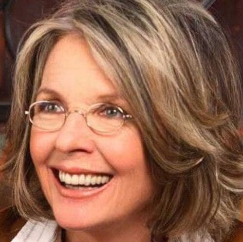 diane keaton short hairstyles for thick hair