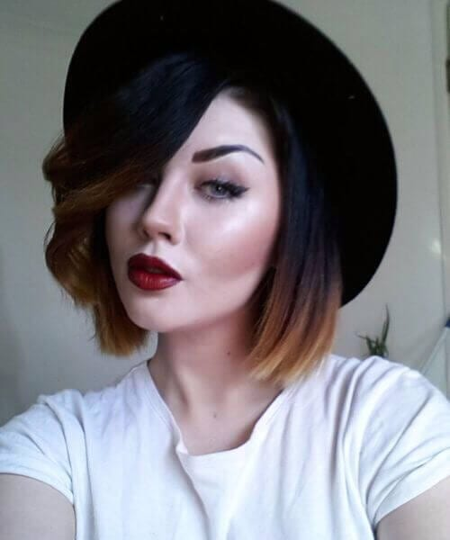 dip dye short hair ombre